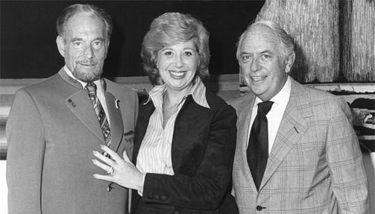 Lloyd E. Rigler, Beverly Sills and Lawrence E. Deutsch